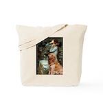 Ophelia & Golden Retriever Tote Bag
