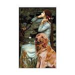 Ophelia & Golden Retriever Sticker (Rectangle)