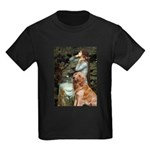 Ophelia & Golden Retriever Kids Dark T-Shirt
