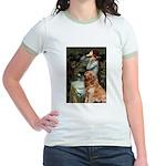 Ophelia & Golden Retriever Jr. Ringer T-Shirt