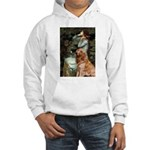Ophelia & Golden Retriever Hooded Sweatshirt