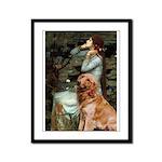 Ophelia & Golden Retriever Framed Panel Print