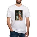 Ophelia & Golden Retriever Fitted T-Shirt