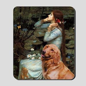 Ophelia & Golden Retriever Mousepad