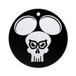 Puny-sher Mouse Skull Ornament (Round)