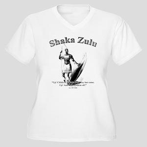 Shaka 01 Women's Plus Size V-Neck T-Shirt