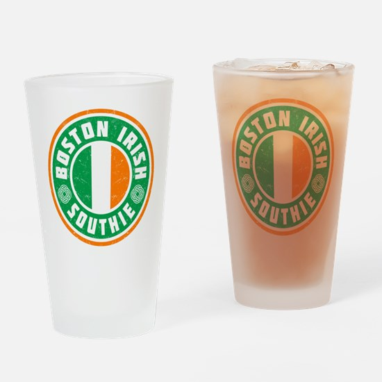 Boston Irish Southie Drinking Glass