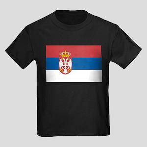 Serbian flag Kids Dark T-Shirt