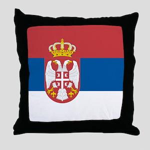 Serbian flag Throw Pillow