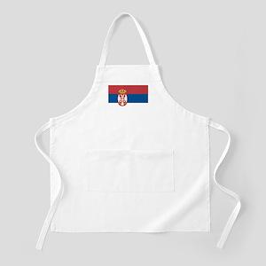 Serbian flag BBQ Apron