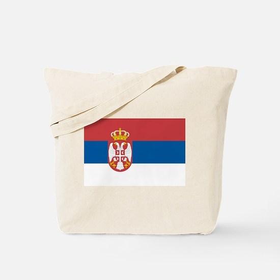 Serbian flag Tote Bag