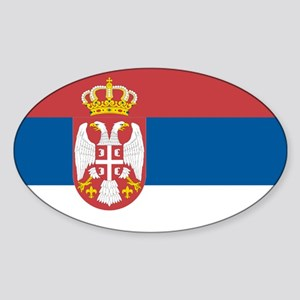 Serbian flag Oval Sticker