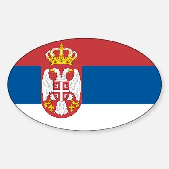 Serbian flag Oval Decal