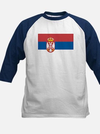 Serbian flag Kids Baseball Jersey