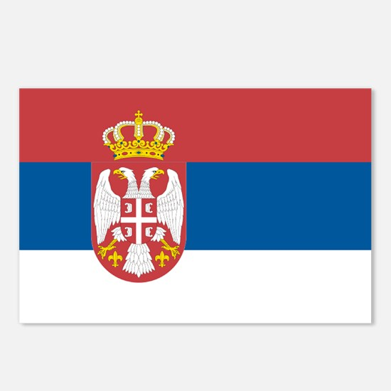 Serbian flag Postcards (Package of 8)