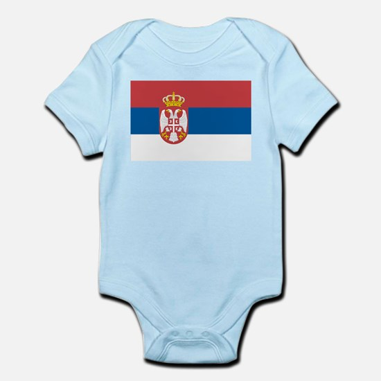 Serbian flag Infant Bodysuit