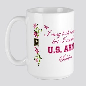 I Raised A Soldier Large Mug
