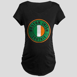 Boston Irish Southie Maternity T-Shirt