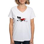 Superhero Al B. Mouse Women's V-Neck T-Shirt