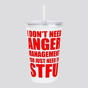 Anger Management STFU Acrylic Double-wall Tumbler