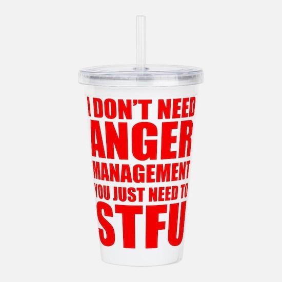 Anger Management STFU Acrylic Double-wall Tumbler