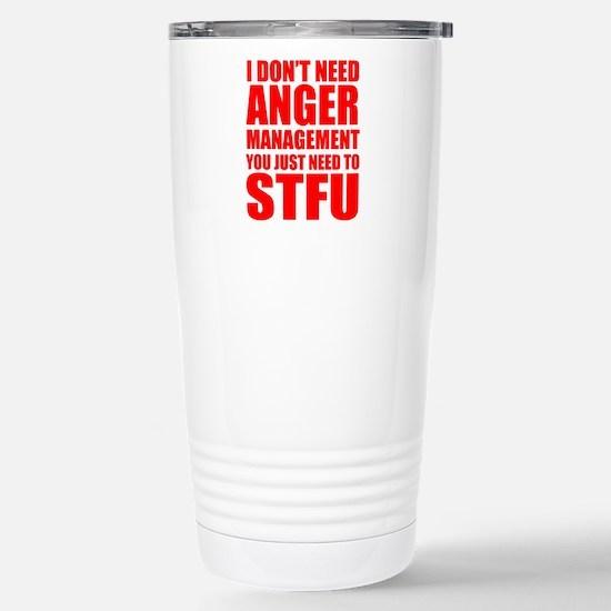Anger Management STFU Travel Mug