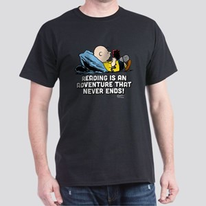 Charlie Brown Reading Adventure Dark T-Shirt