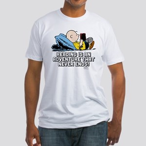 Charlie Brown Reading Adventure Fitted T-Shirt