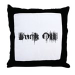 Fuck Off - Faded Throw Pillow