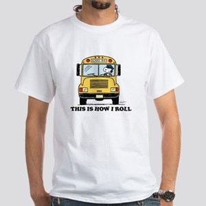 Snoopy: This is How I Roll White T-Shirt