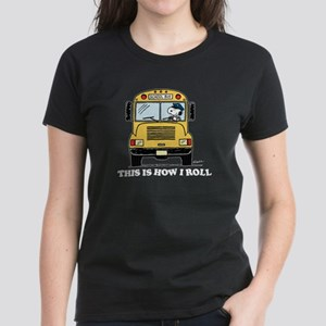 Snoopy: This is How I Roll Women's Dark T-Shirt