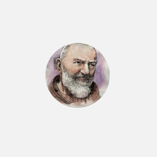 Padre Pio Mini Button
