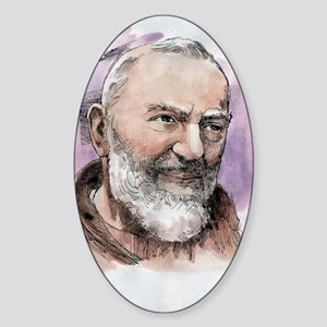 Padre Pio Sticker (Oval)