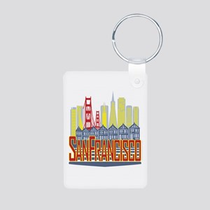 SF Golden Skyline Keychains