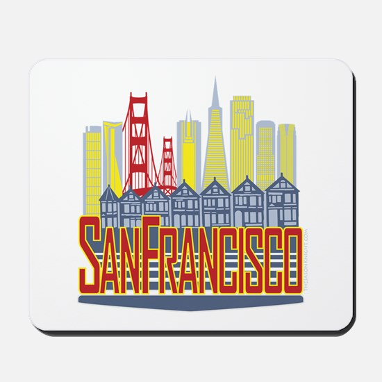 SF Golden Skyline Mousepad