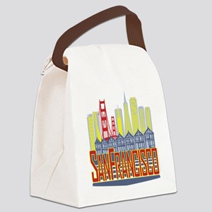 SF Golden Skyline Canvas Lunch Bag