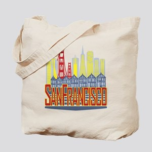 SF Golden Skyline Tote Bag