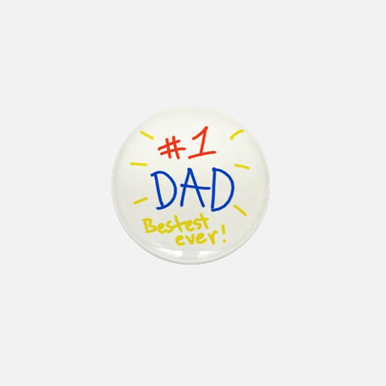 #1 dad Mini Button