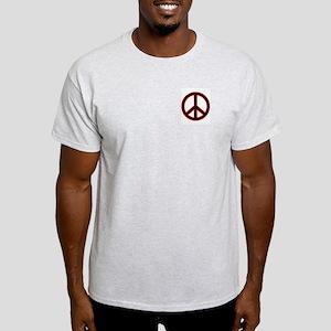 Red&Black Peace Symbol Ash Grey T-Shirt