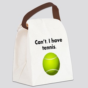 Cant I Have Tennis Canvas Lunch Bag