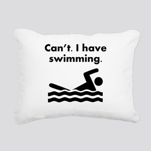 Cant I Have Swimming Rectangular Canvas Pillow