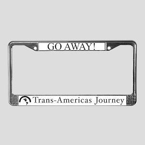 TAJ/Go Away - License Plate Frame