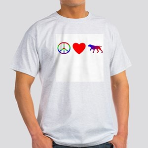 Peace, Love, GSP Light T-Shirt