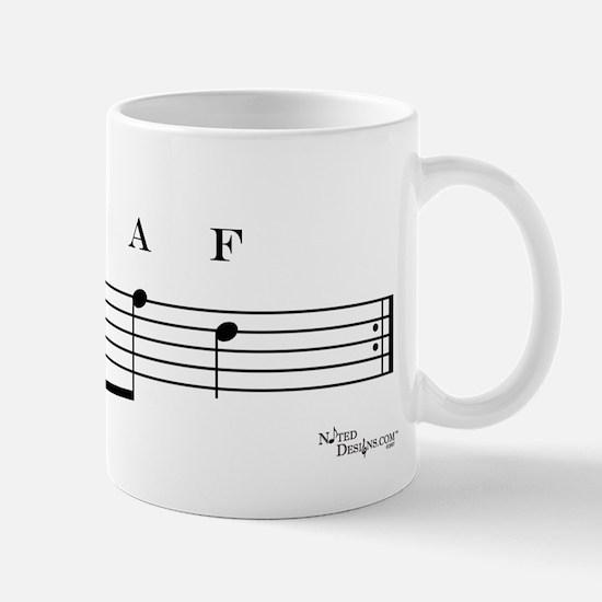 decaf (bass clef) Mug