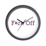 F*ck Off Wall Clock