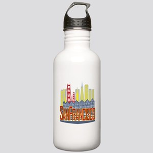 SF Golden Skyline Water Bottle