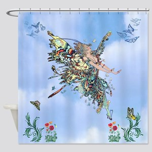 Flight Of The Butterfly Fairy Shower Curtain