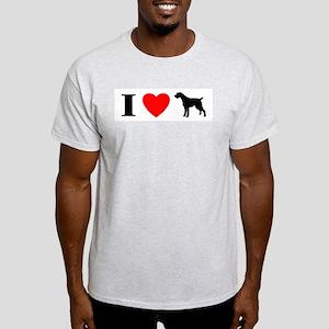 I Heart German Wirehair Light T-Shirt