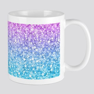Colorful Retro Glitter And Sparkles Mugs