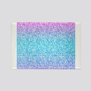 Colorful Retro Glitter And Sparkles Magnets